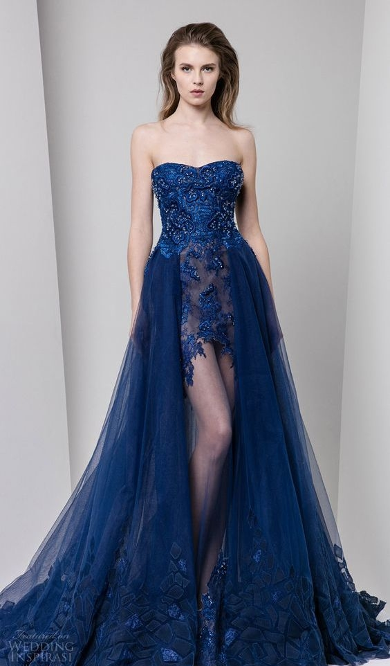 ec83920bd Vestidos de 15 Anos Azul  60 Modelos e Fotos para se Inspirar