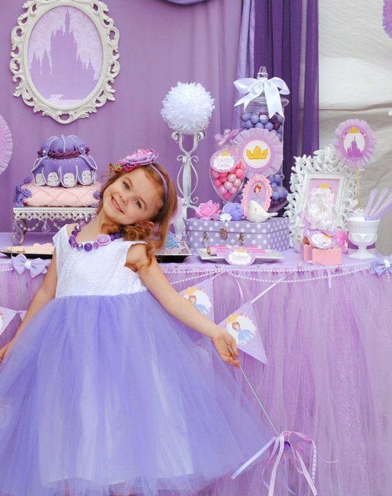 Artigos de festa da princesa sofia