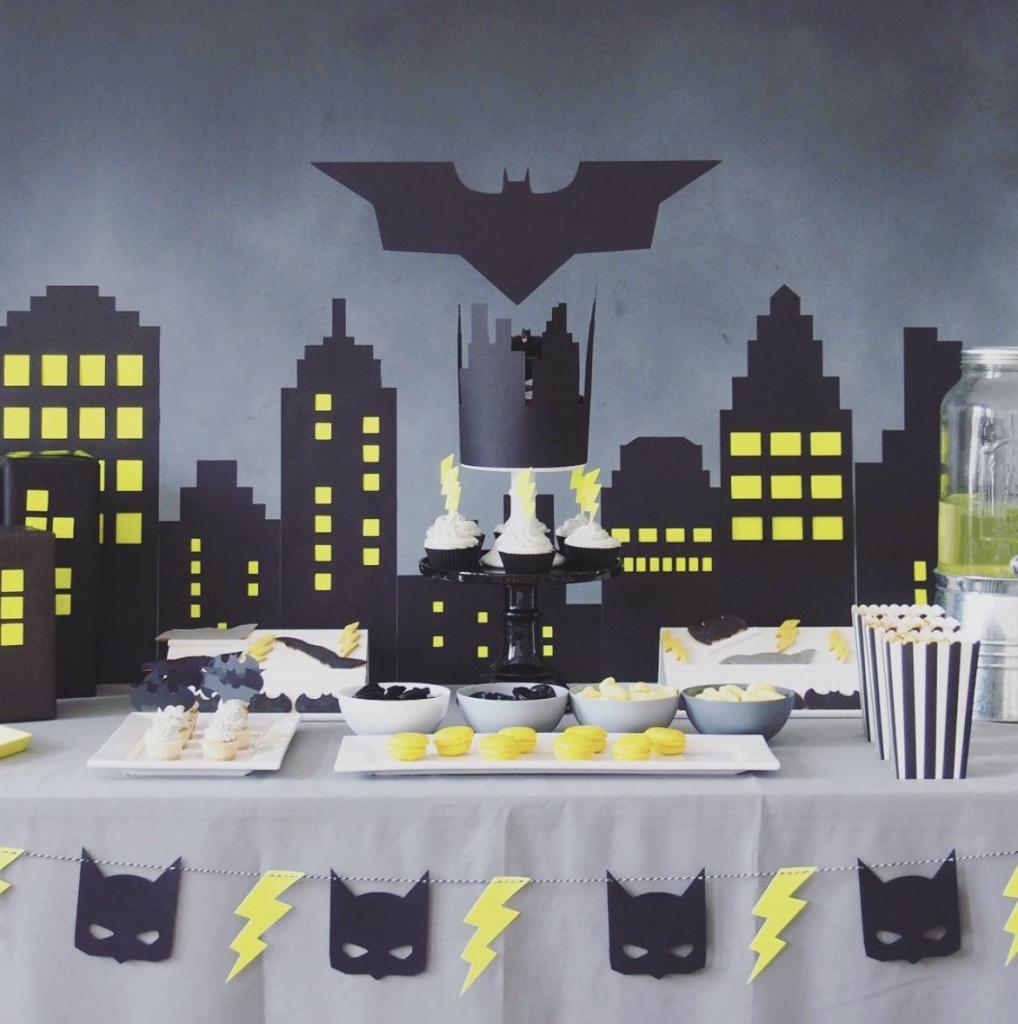 decoracao festa batman:Festa do Batman: 60 Ideias de Decoração & Inspirações