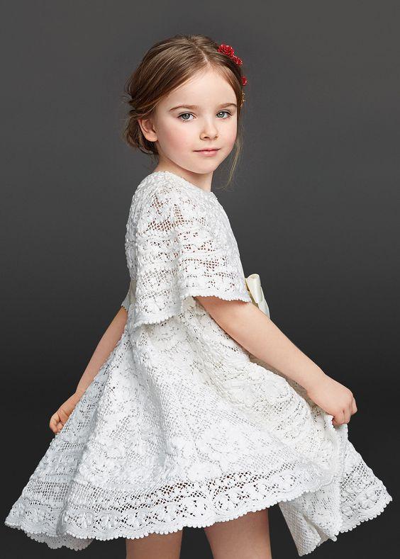 Vestidos De Crochê Infantil 60 Fotos Ideias Lindas