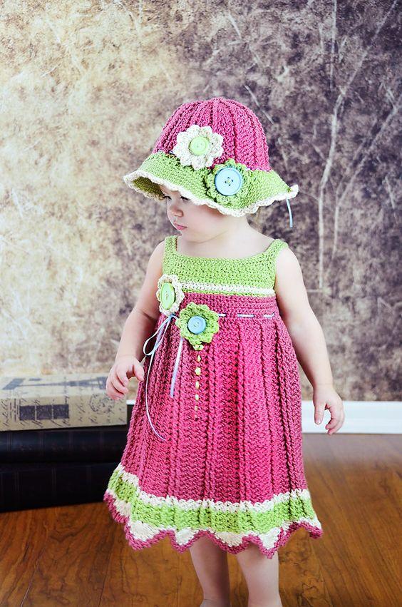 800955ab95b6 Vestidos de Crochê Infantil: 60 Fotos & Ideias Lindas