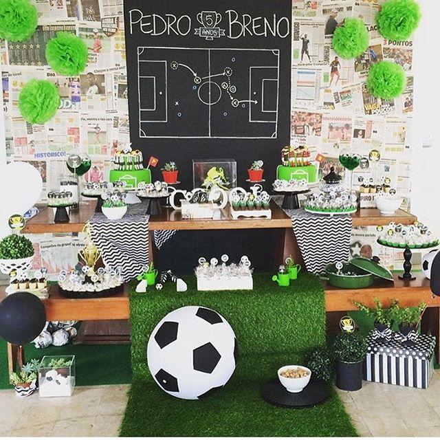 Festa Futebol  60+ Dicas de Decoração e Fotos Lindas! 047c803b1a487