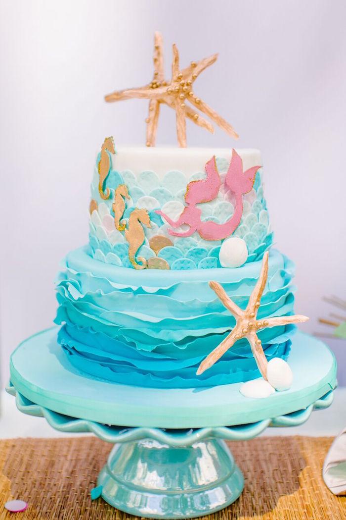 Disney Beach Theme Cake