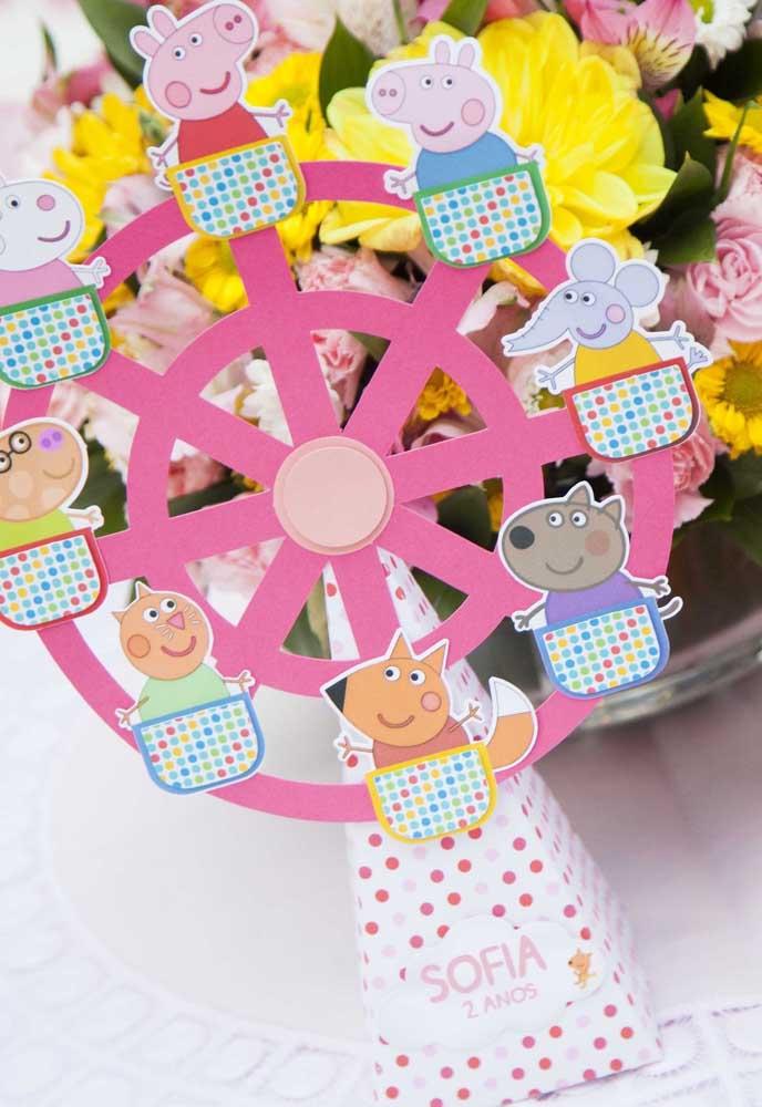 Com muita criatividade você consegue construir vários elementos divertidos com o tema Peppa Pig.