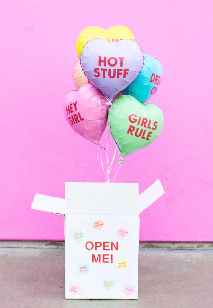 Prepare uma surpresa para o seu amor, fazendo uma decoração dia dos namorados com balões.