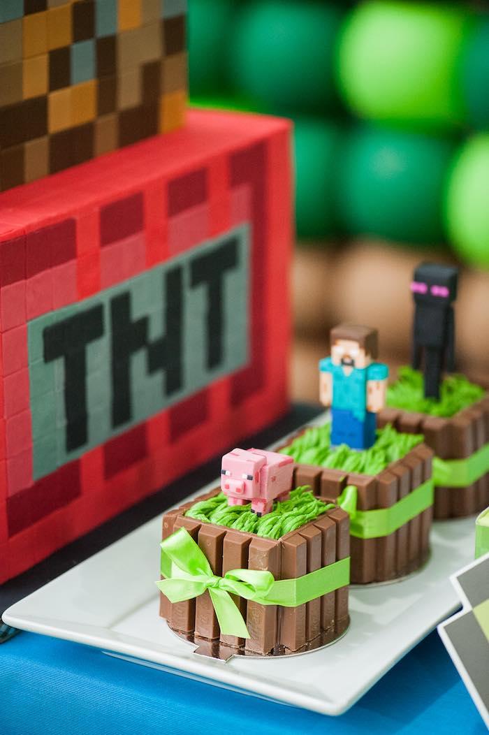 Festa Minecraft doces e lembrancinhas