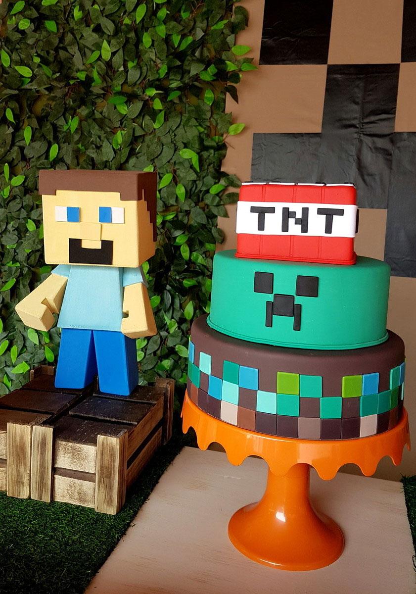 Topo De Bolo De Papel Minecraft Para Imprimir