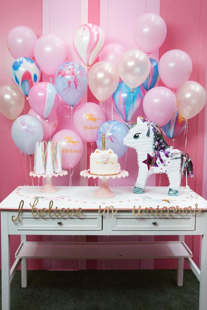 Festa Unicórnio 60 Ideias de Decoraç u00e3o e Fotos do Tema -> Decoração De Unicornio Para Festa