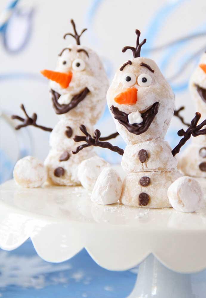 O risonho e divertido Olaf virou docinho nessa outra festa com tema Frozen
