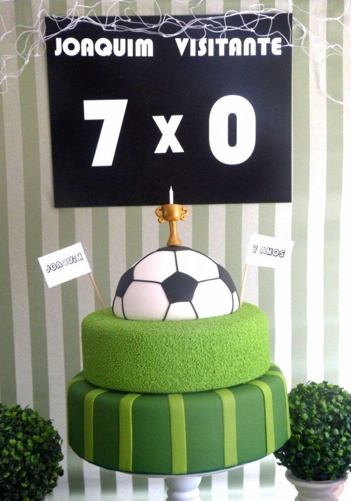 Bolo Futebol  50 Ideias de Decoração do Tema e Como Fazer df25e95130ff7
