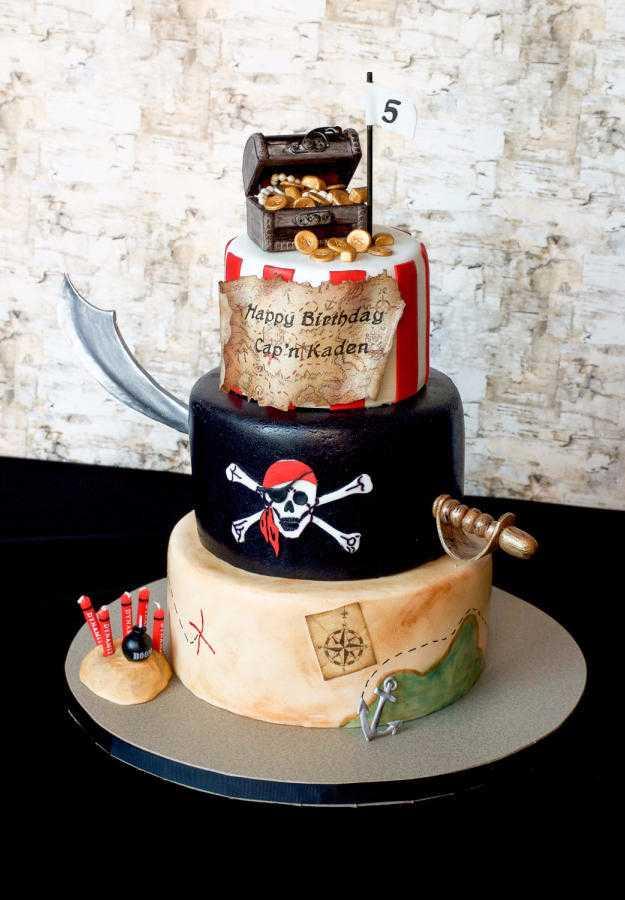 Piratas do caribe no bolo