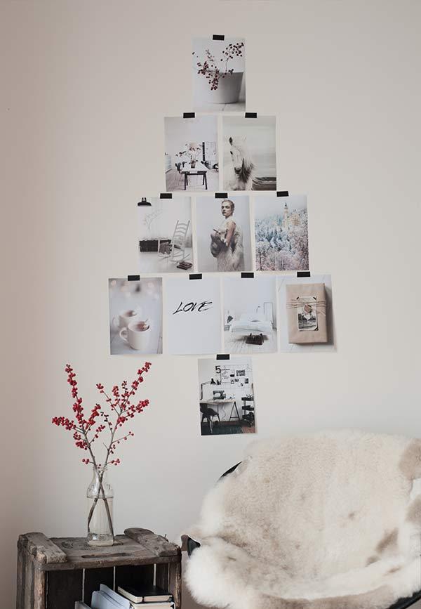 Árvore de fotos para a parede