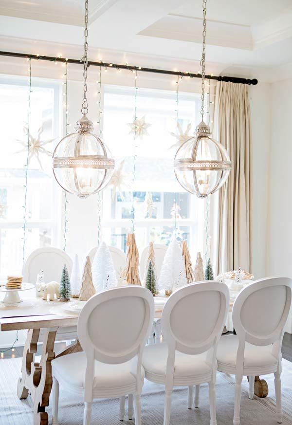 Decoração de Natal minimalista e luminosa
