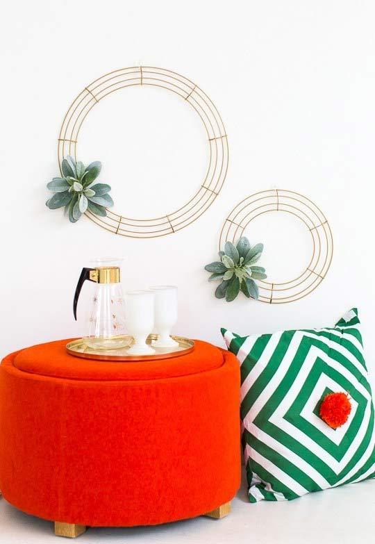 Guirlandas minimalistas para a decoração
