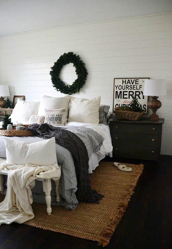 Decoração Natalina minimalista para o quarto