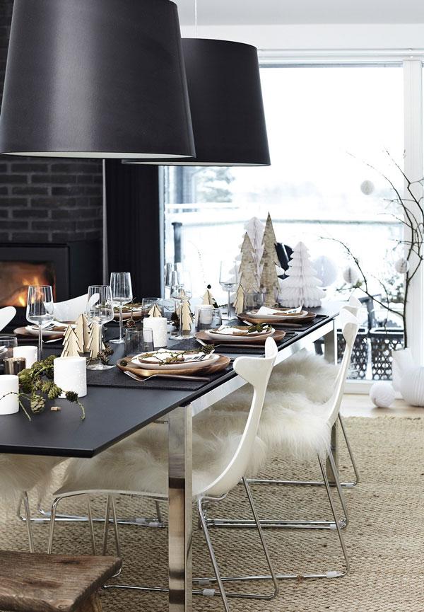 Mesa de Natal com muito glam
