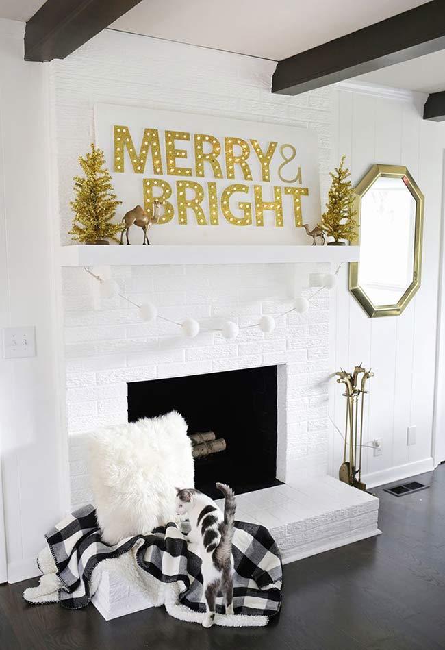 Natal brilhante e dourado