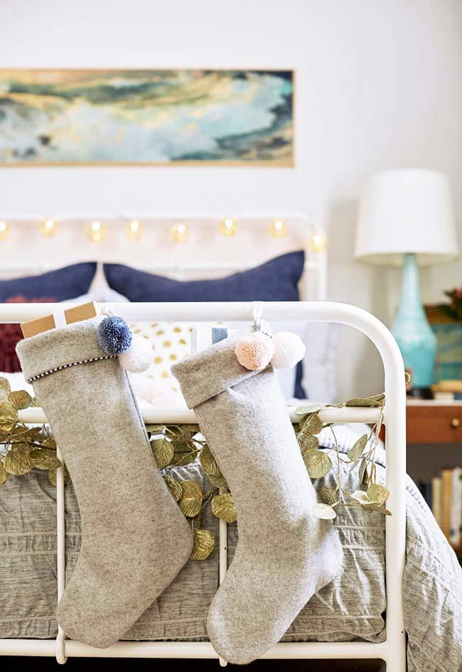 Não esqueça de enfeitar a sua cama para o Natal