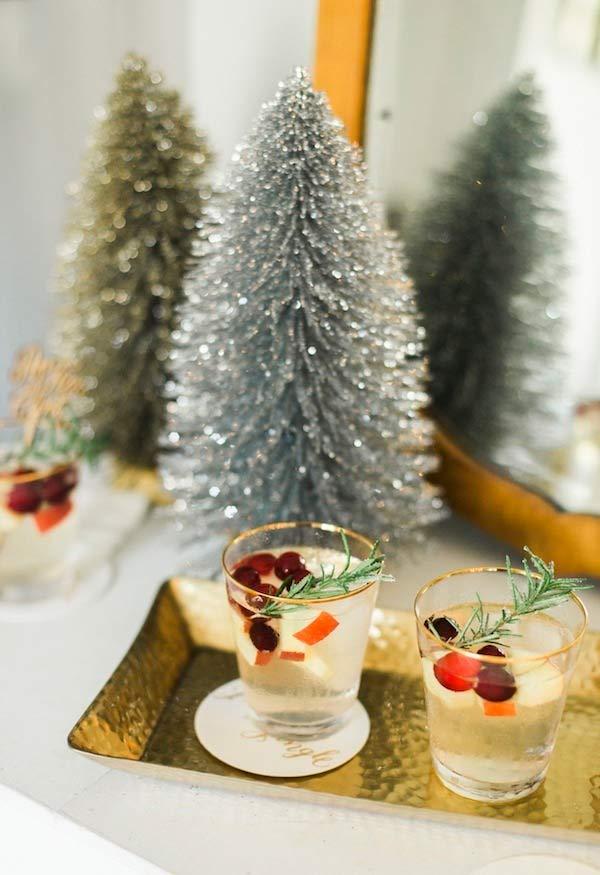 Drinks com frutinhas para o Natal