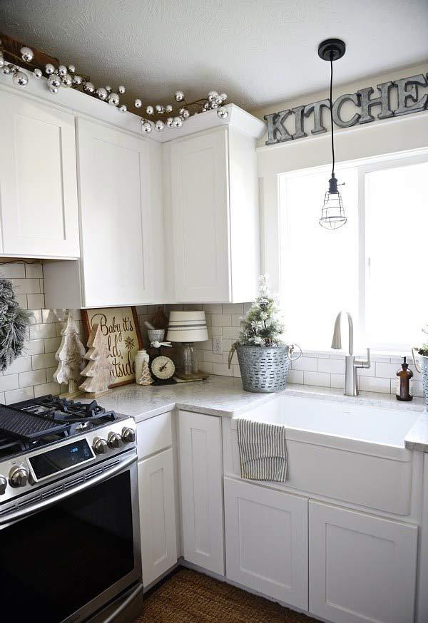 Decoração de Natal na cozinha
