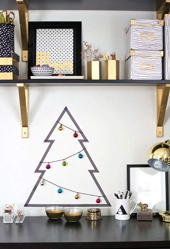 Decoração de Natal artesanal: árvore minimalista