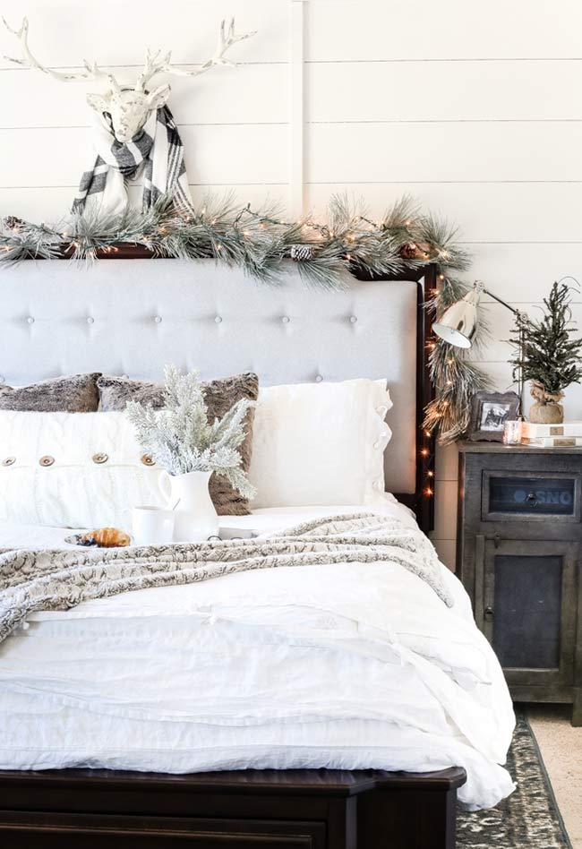 Decoração de Natal para quarto de casal