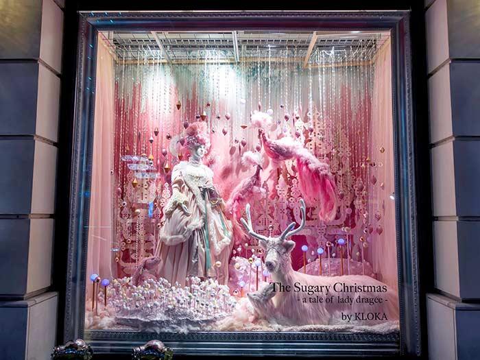 Elementos de Natal para a vitrine