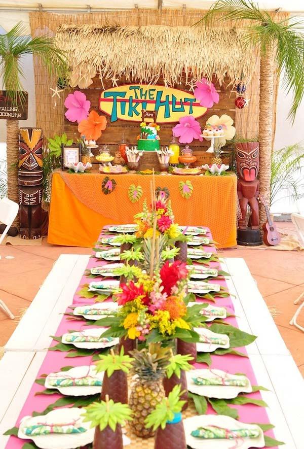 Banquete havaiano
