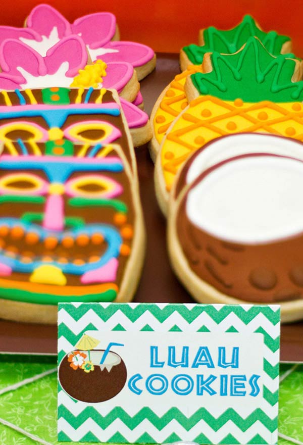 Cookies decorados para o seu luau