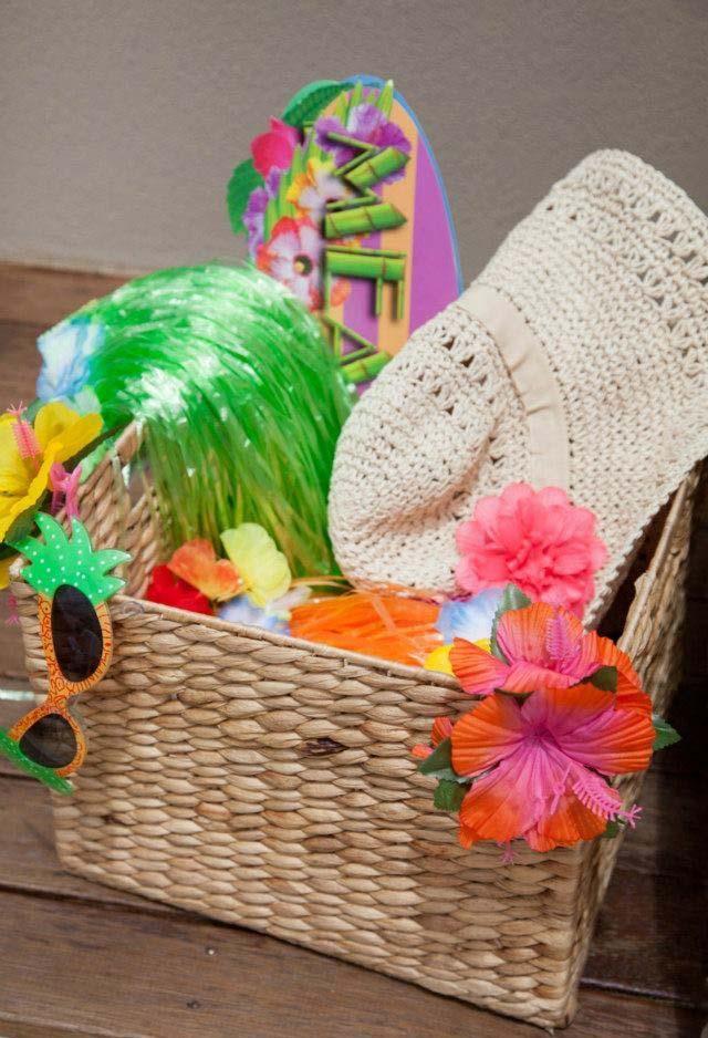 Acessórios da festa havaiana