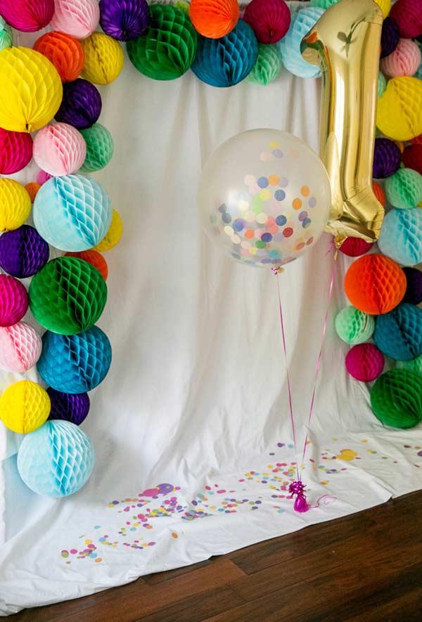 As colméias podem fazer a vez de balões na decoração