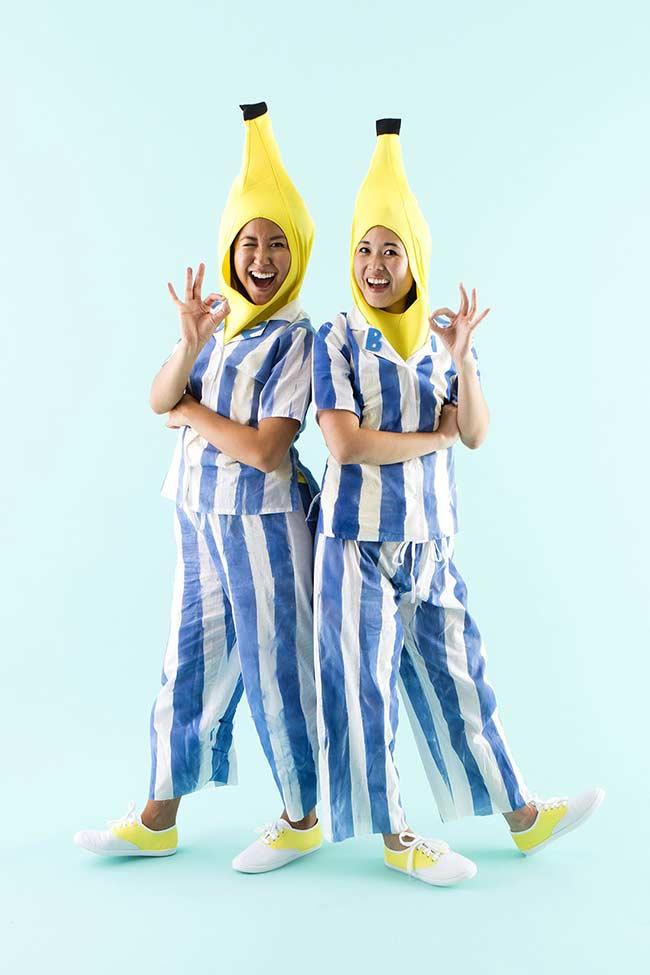 Fantasia de carnaval: bananas de pijamas