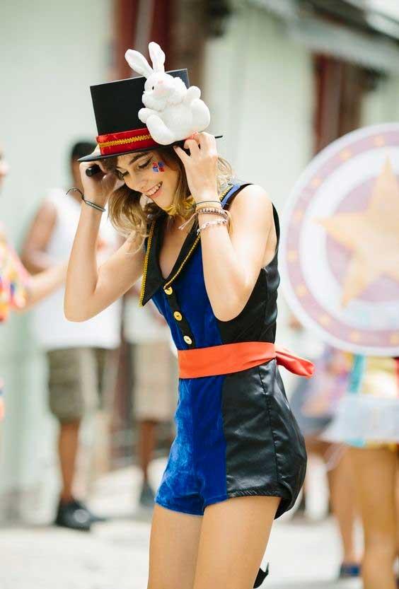 Fantasia de carnaval: mágico