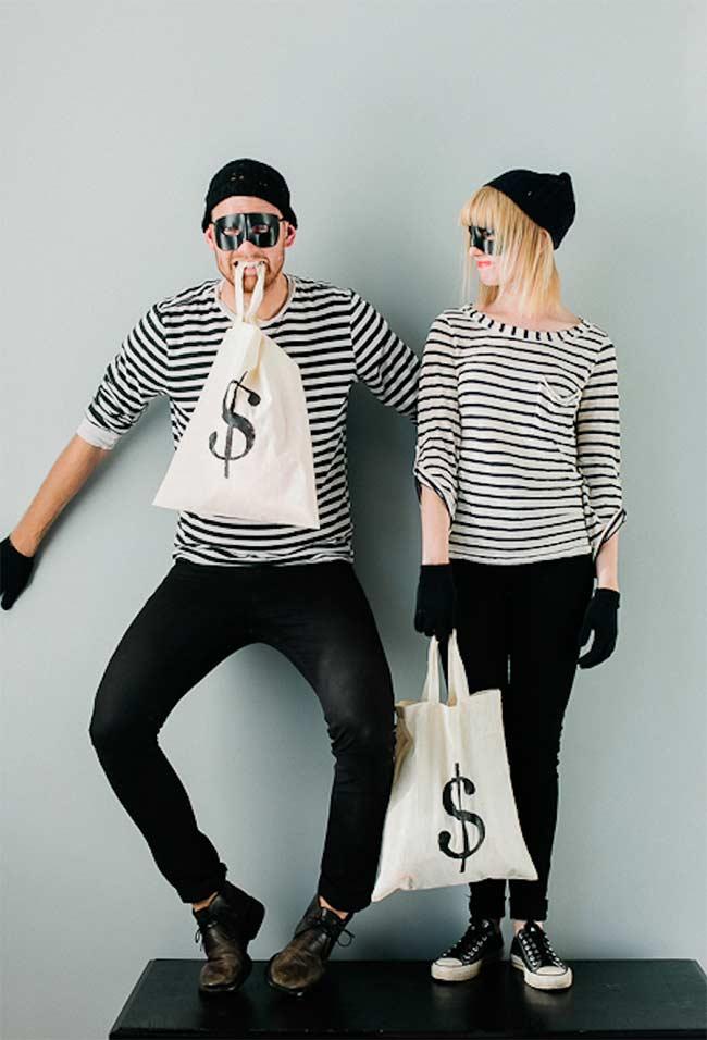 Fantasia de carnaval: dupla de ladrões