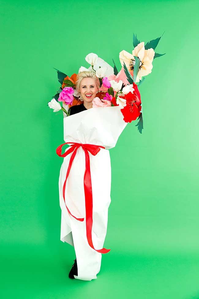 Fantasia de carnaval: buquê de flores