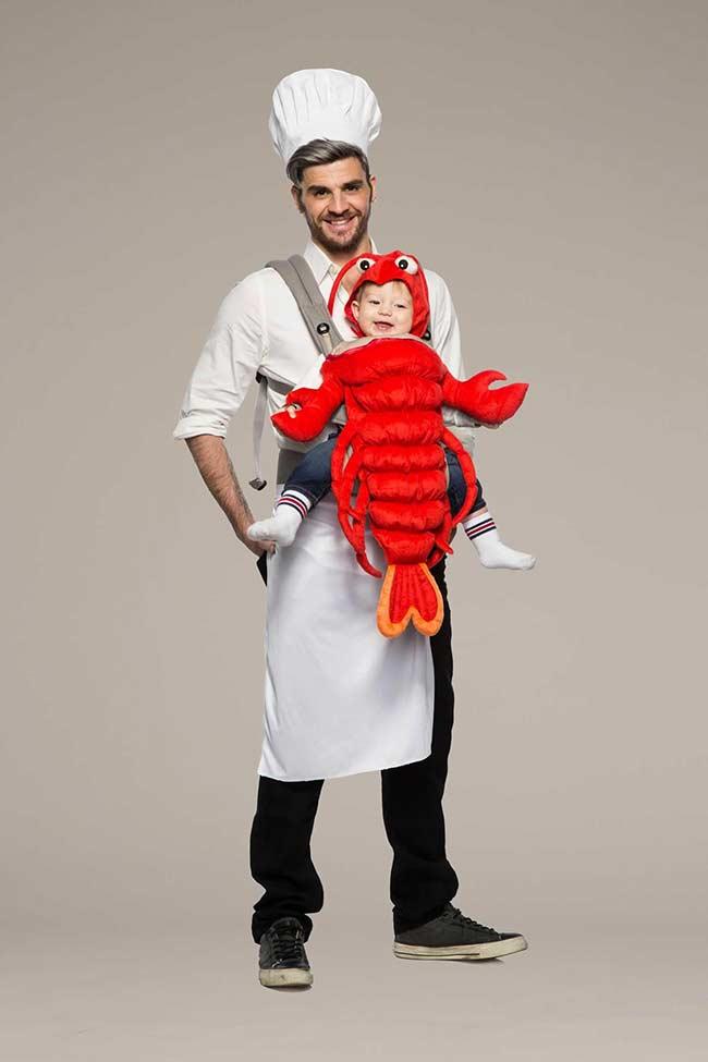 Papai Chef da cozinha