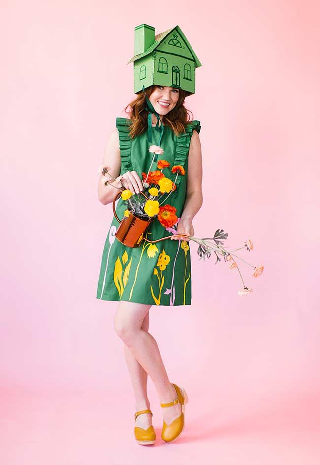 Fantasia carnaval feminina para quem ama plantinhas