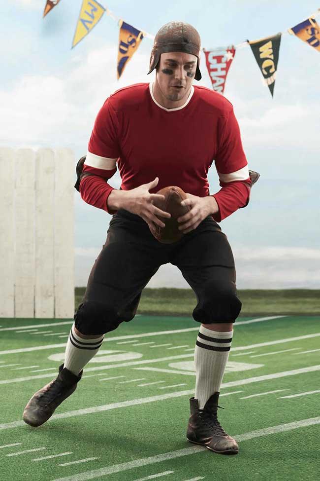 Curta a folia como jogador de futebol americano
