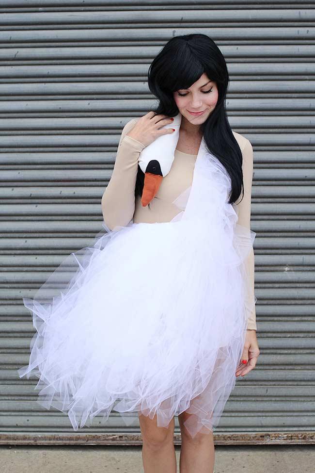 Vestido cisne / fantasia de carnaval