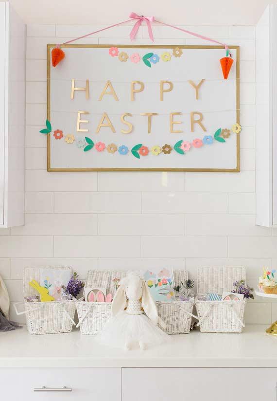 Lembrancinhas de páscoa para as crianças: cestas personalizadas