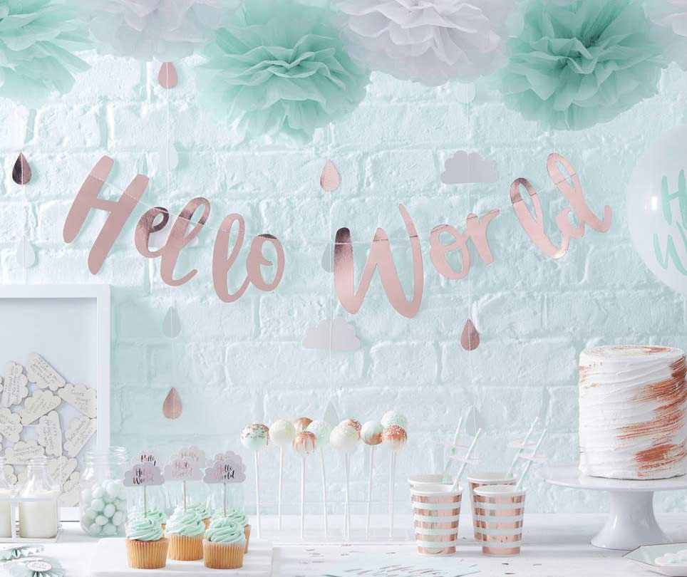 Como organizar chá de bebê: mesa de chá de bebê decorada