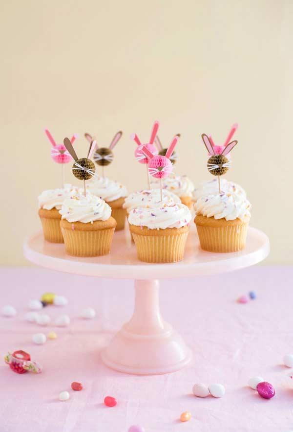Decoração de Páscoa para cupcakes