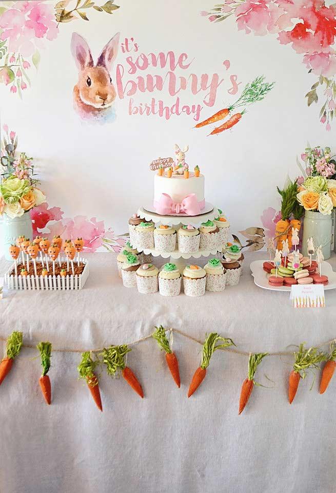 Decoração de Páscoa para festa de aniversário