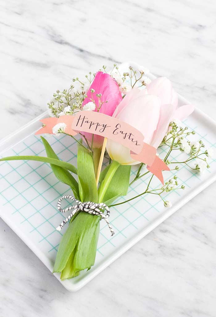 Arranho de flores para a Páscoa