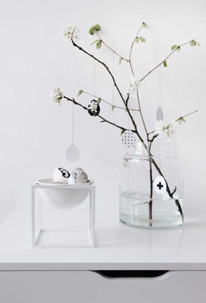 Decoração de Páscoa minimalista