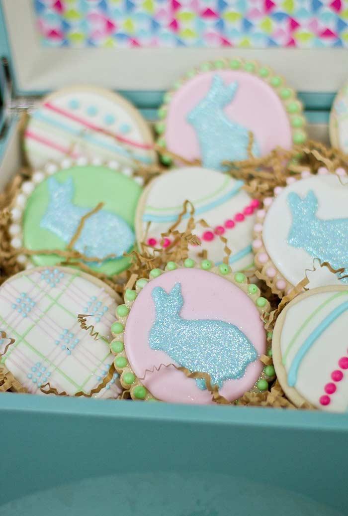 Biscoitos decorados para Páscoa