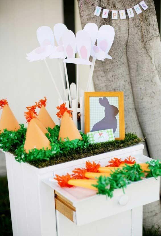 Chapéuzinho de papel para decoração de Páscoa