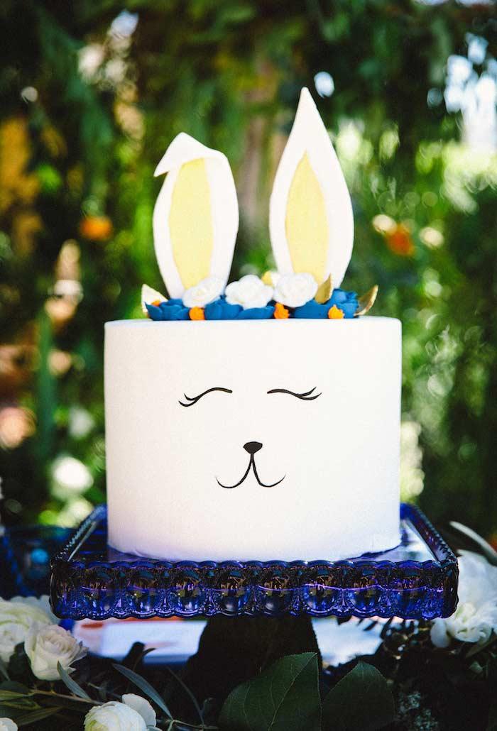 Carinha muito feliz para o bolo