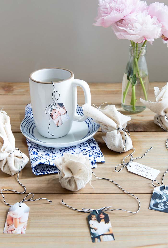 Saquinhos de chá afetivos