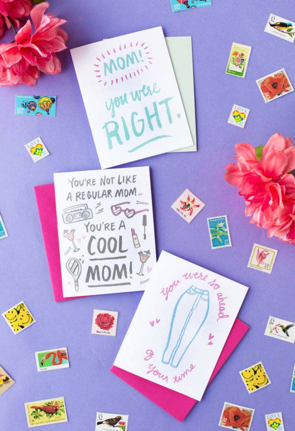 Cartões especiais para as mães mais legais